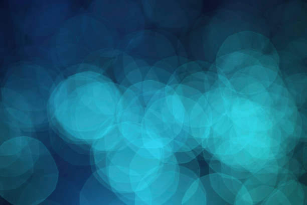 Blue Defocused (Holiday Background) Wall Art