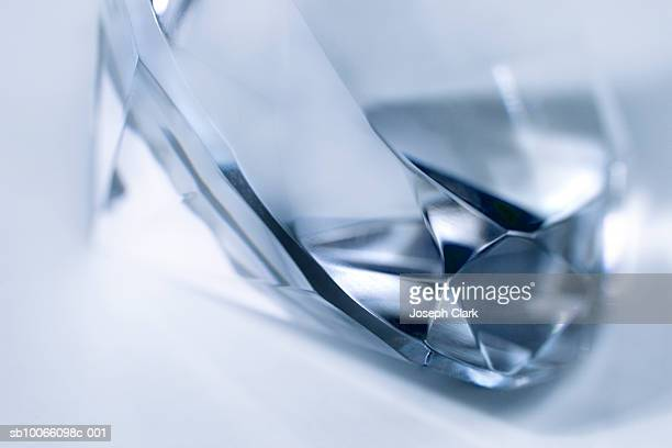 blue diamond, close-up - diamond gemstone stock pictures, royalty-free photos & images