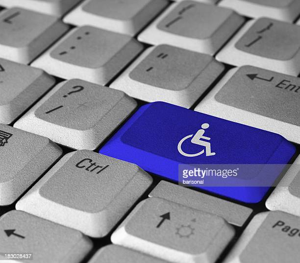 Blue disabled button