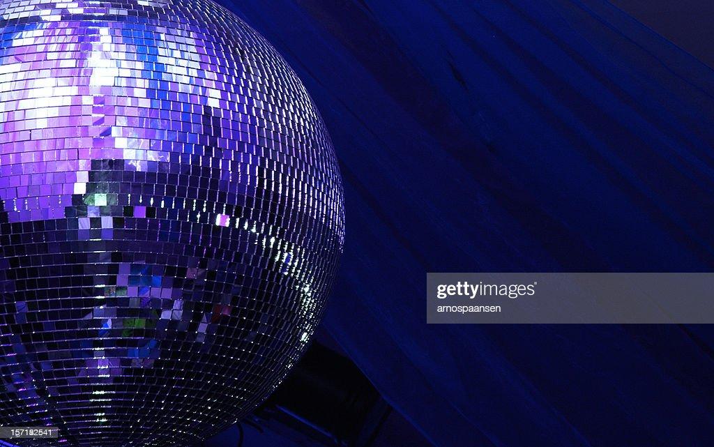 blue disco glitterball sphere : Stock Photo