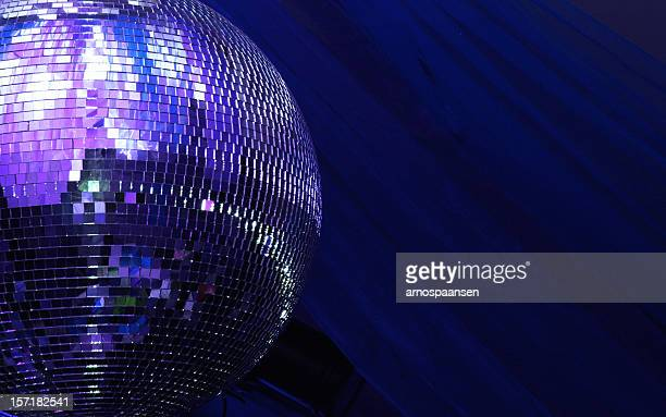 blue disco glitterball sphere