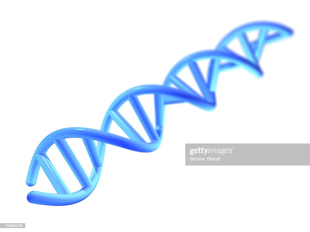 Blue Dna Helix Against A White Background 3d Cutout Stock