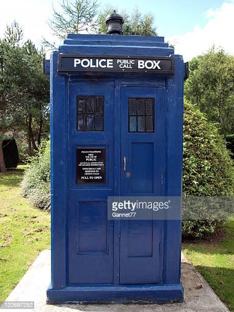 Blue Doctor Who Tardis Police Box