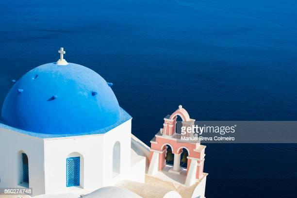 Blue dome in Santorini