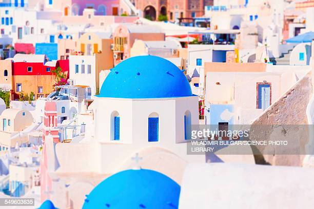 Blue domed roof, Santorini, Greece
