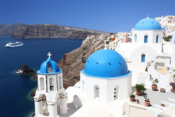 Blue Domes of Santorini