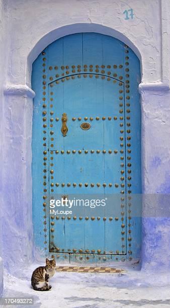 Blue Door in Chefchaouen Medina Morocco