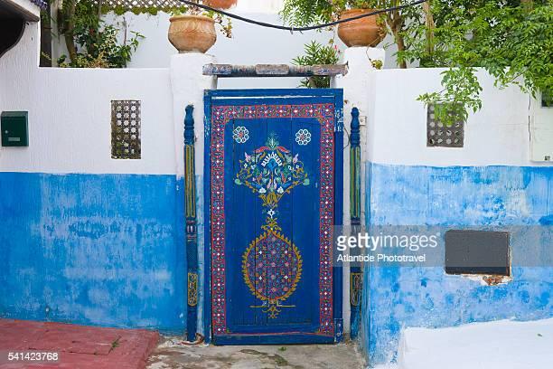 Blue door in Kasbah des Oudaias