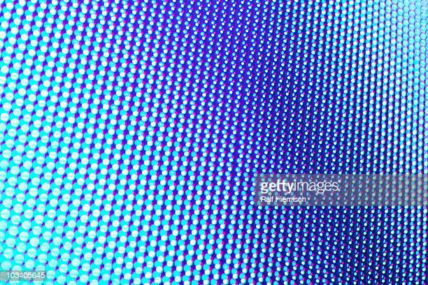 blue dotted pattern, full frame - geometric design stock photos and pictures