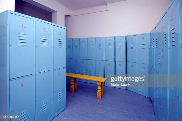 Blue dressing room