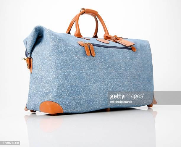 Blauen Duffle Tasche