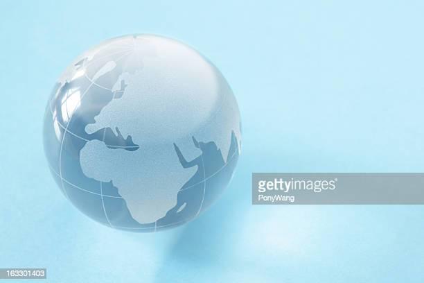 Bleu terre Globe en verre