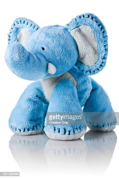 blue elephant toy - toy animal stock photos and pictures