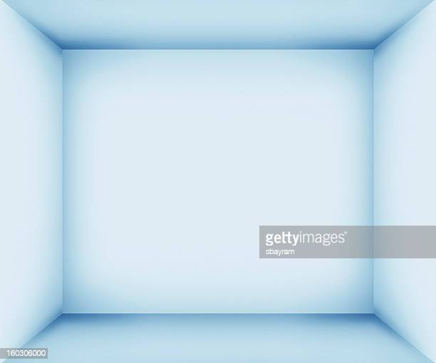 xxxl blue empty room interior - domestic room stock pictures, royalty-free photos & images