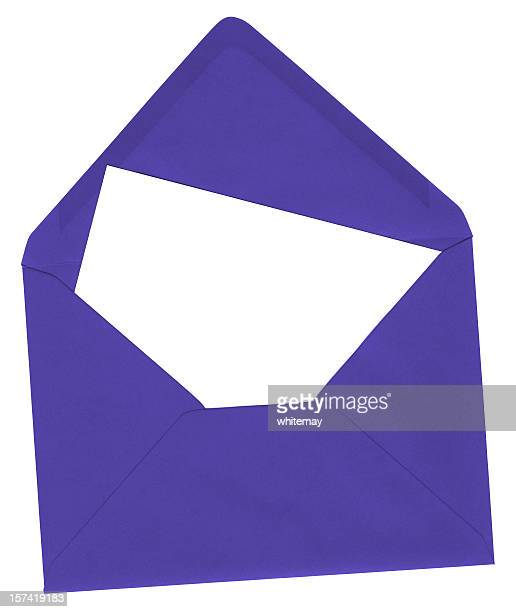 Blue envelope and blank card