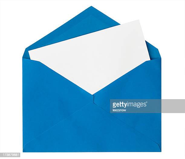Blue Envelope Isolated on White