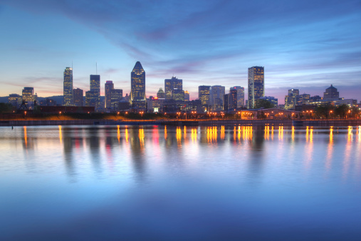 Blue Evening Sky over Montreal Cityscape 173900858