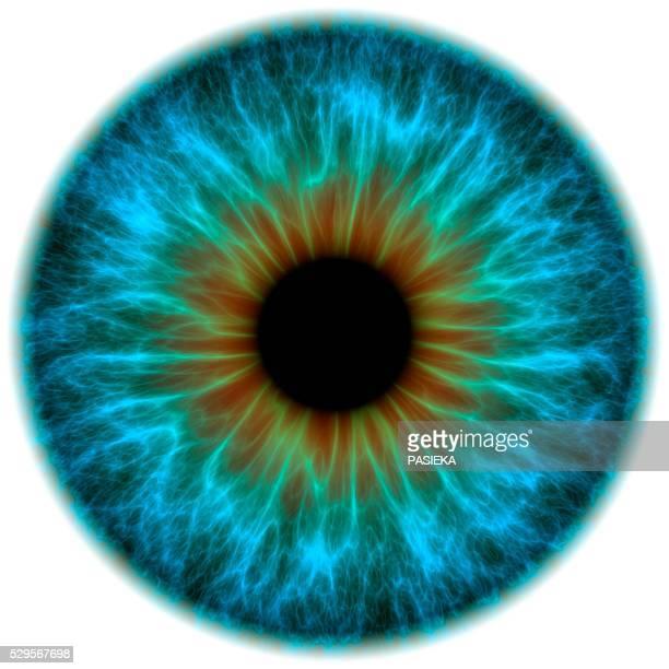 Blue eye, artwork