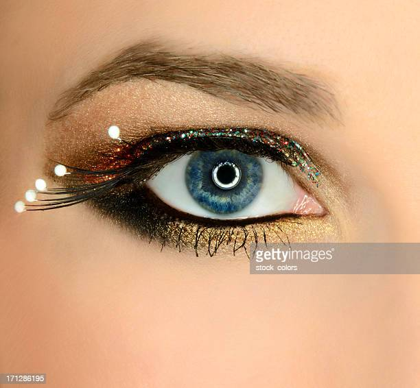 blue eye - eye liner stock photos and pictures
