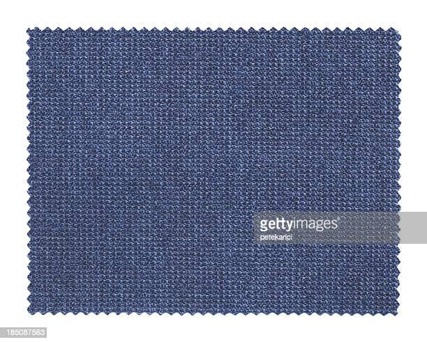 blue fabric swatch - textile patch stock pictures, royalty-free photos & images