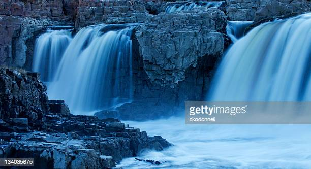 blue falling water in south dakota - south dakota stock photos and pictures