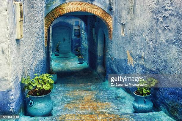 blue feeling - tetouan stock photos and pictures