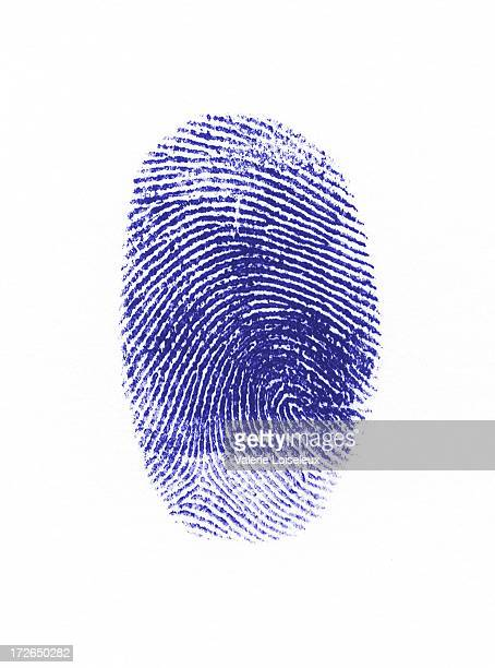 Blue fingerprint