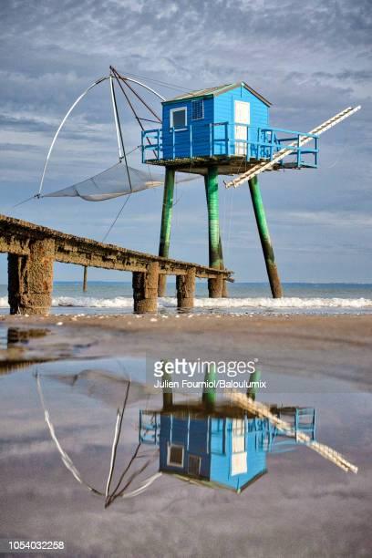 blue fishery, tharon-plage, france - loire atlantique photos et images de collection
