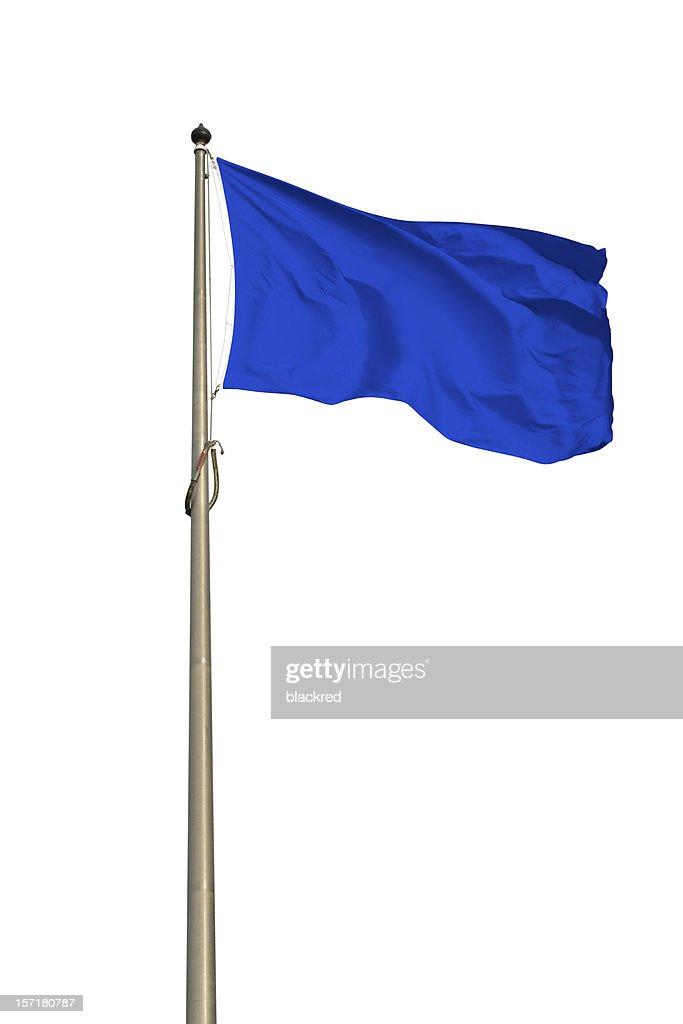 Blue Flag : Stock Photo