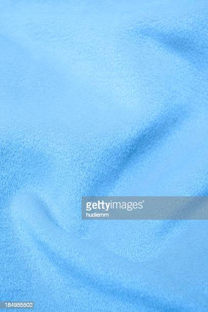 Blue flannel blanket textile background textured