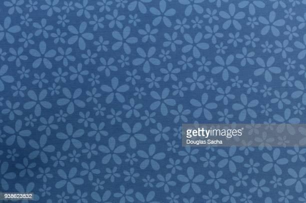 Blue floral ornate tapestry pattern