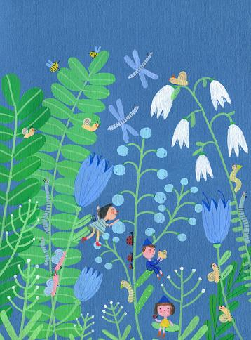 Blue flowers - gettyimageskorea