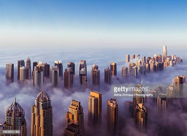 Blue Foggy Morning In Dubai