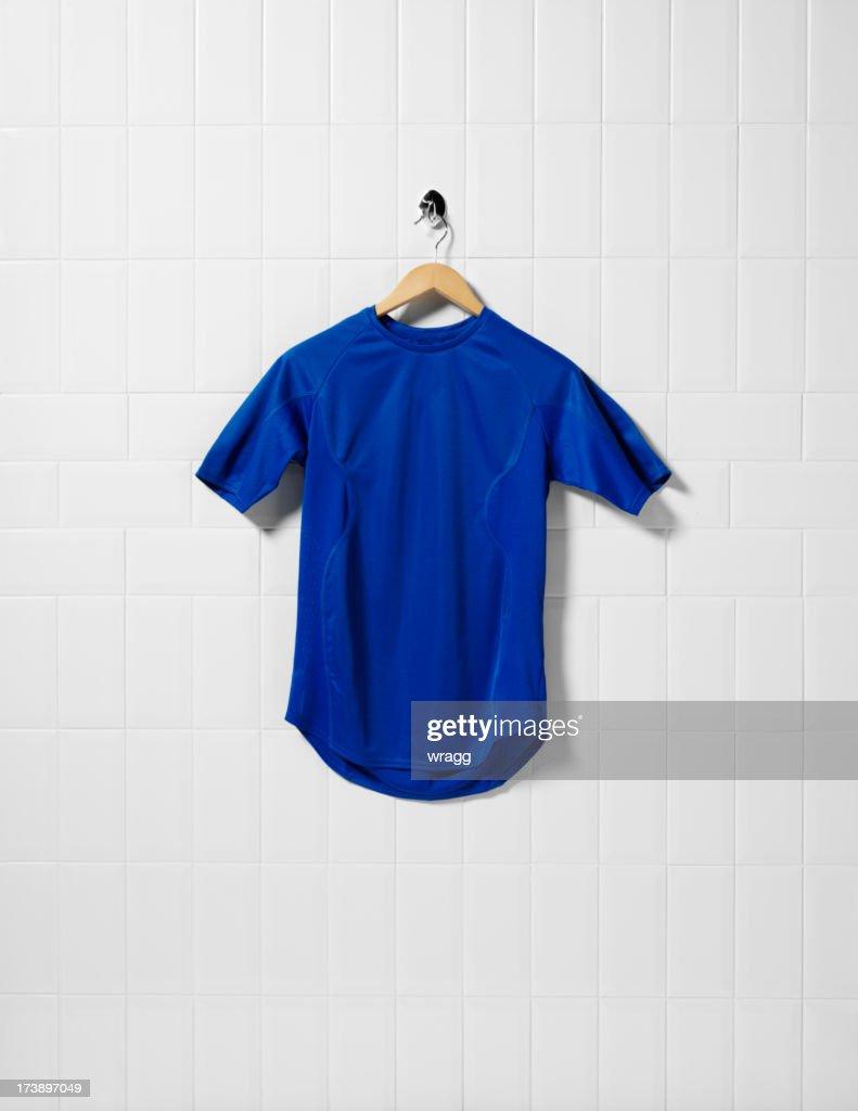 Blue Football Shirt : Stock Photo