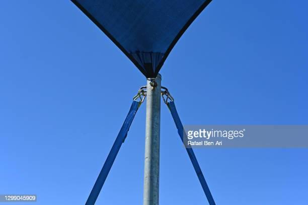 blue gazebo marquee tent cover canopy - rafael ben ari imagens e fotografias de stock