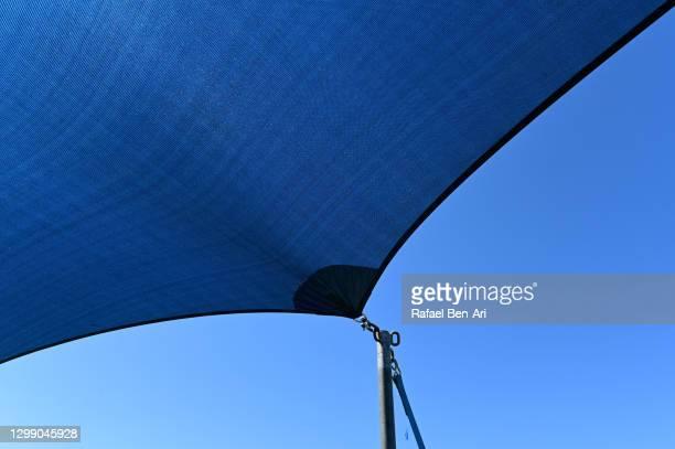 blue gazebo marquee tent cover canopy - rafael ben ari stock-fotos und bilder