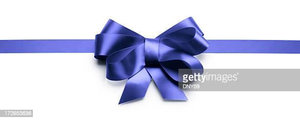 Laço de Fita de presente azul &