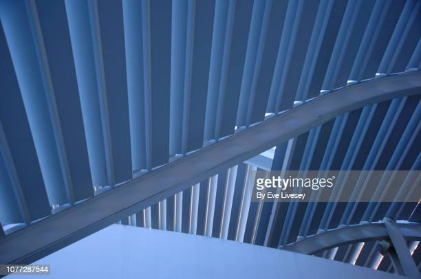 blue girder abstract - generic location stock pictures, royalty-free photos & images