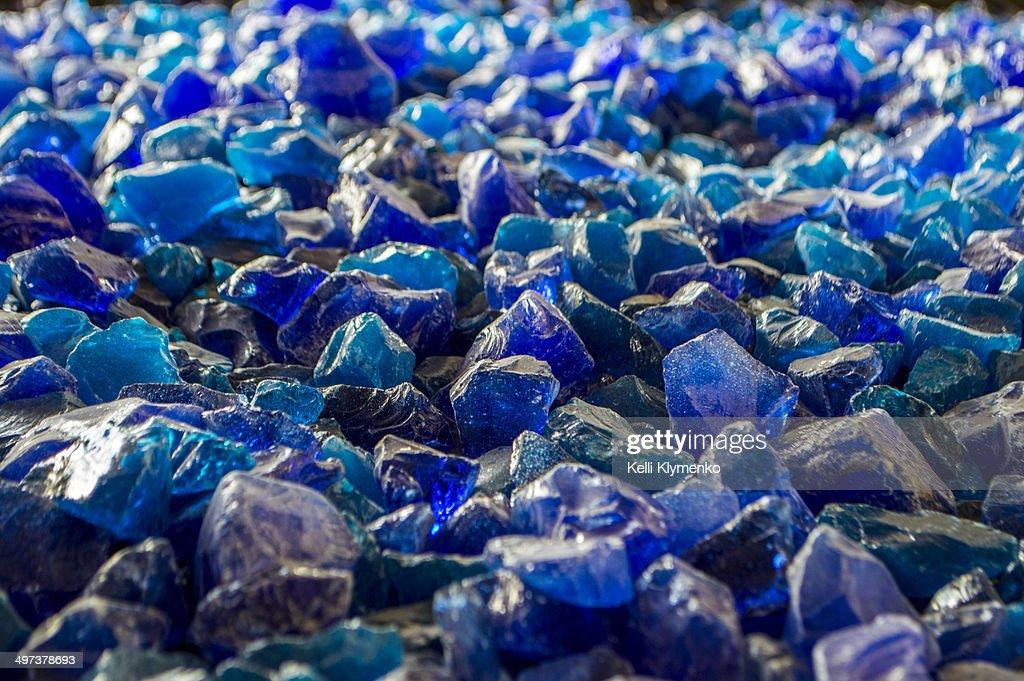 Blue Glass : Stock Photo