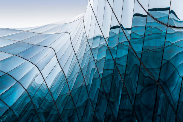 blue glass - modern stock pictures, royalty-free photos & images
