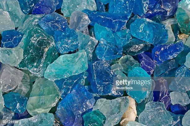 ブルーのガラスの石