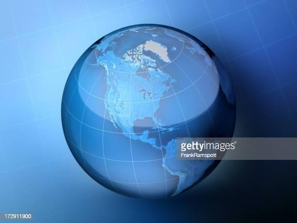 ブルーのグローブ北米