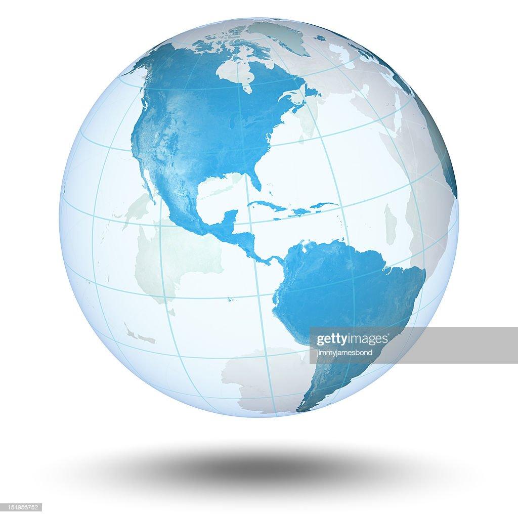 Blauer Welt : Stock-Foto