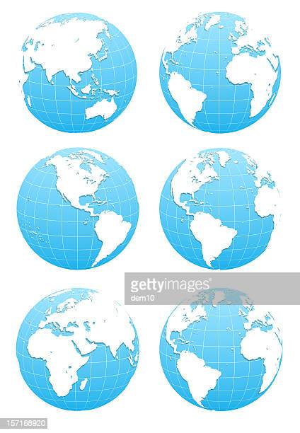 3D Blue Globe  ( include clipping path )