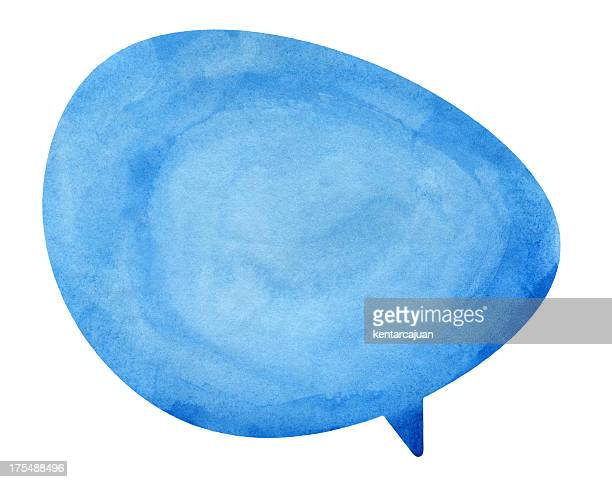 Blue Globe Speech Bubble