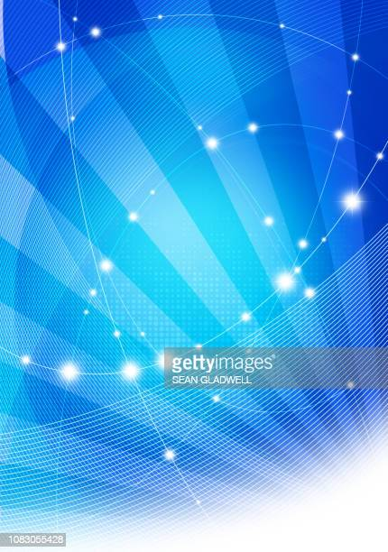 blue graphic network illustration - website template stock photos and pictures