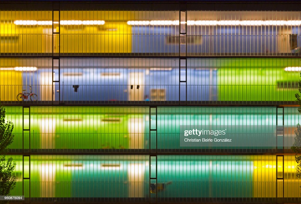 Blue, Green and Yellow Lights : Stock Photo