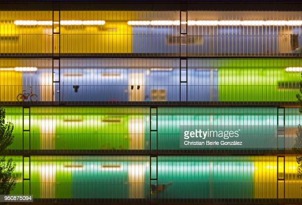 blue, green and yellow lights - christian beirle stock pictures, royalty-free photos & images