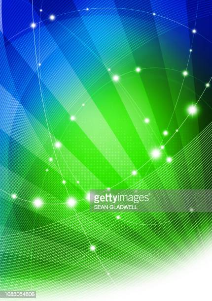 blue green network - website template stock photos and pictures