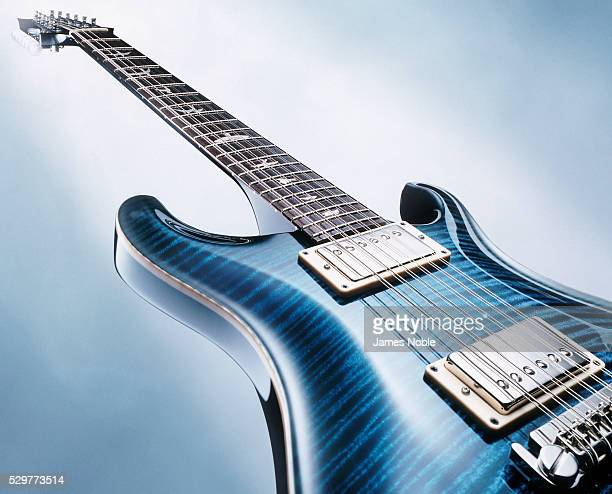 blue guitar - classic rock stock pictures, royalty-free photos & images